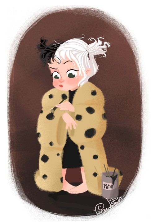 Cruella de Vil as a Baby