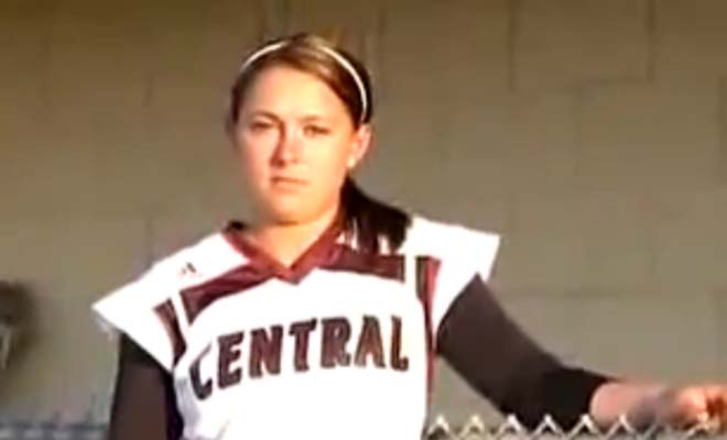 This girl hit her first and probably her last Softball home run in her career. You won't believe why.
