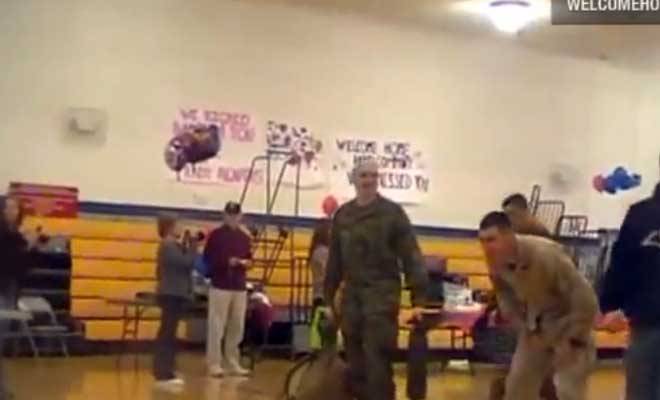 Heart Warming Welcome Home Surprise For A Marine Dad From His Son With Cerebral Palsy.