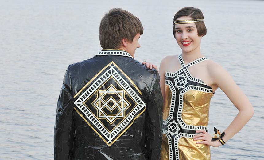 Duct Tape Has Been Used For Many Things… But, Prom Outfits? Yes, And They Made It Work!