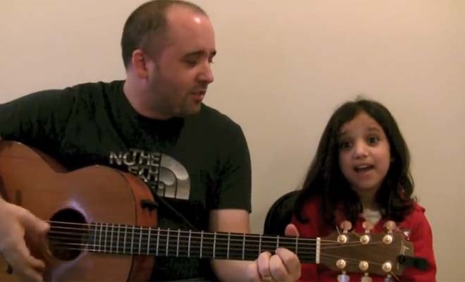 This adorable daddy-daughter duo put a lot of joy in my heart.  The ending of the video is hilarious.