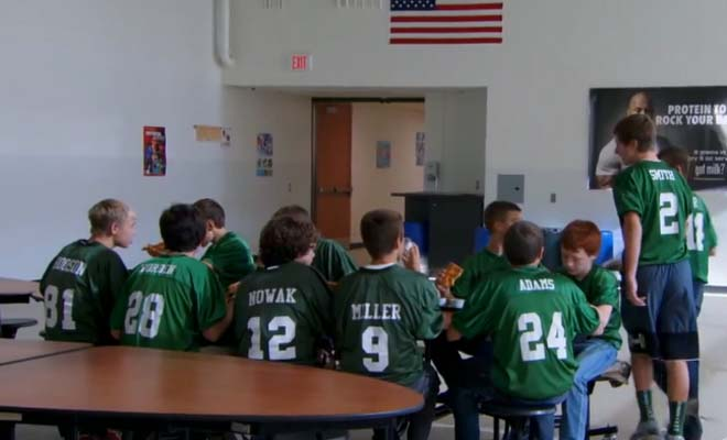 Middle school football team went behind their coaches back to do something amazing. You won't believe what they did.