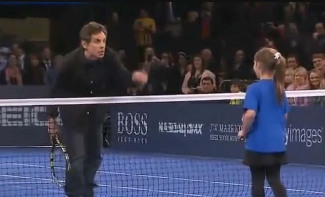 Watch This 9-Year Old Girl Give Stiller, Nadal and Del Potro Run For Their Money In Match Showdown