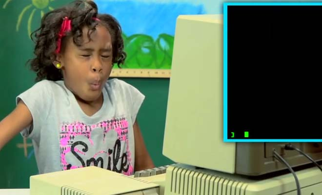 It's Hilarious! Watch How These Kids React To Old Computers