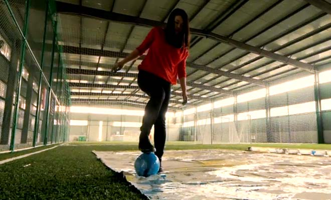 This Girl Doesn't Have Soccer Skills But What She Does Is Awesome And Beautiful.