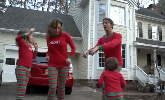 This family makes a Christmas card like you've never seen before.