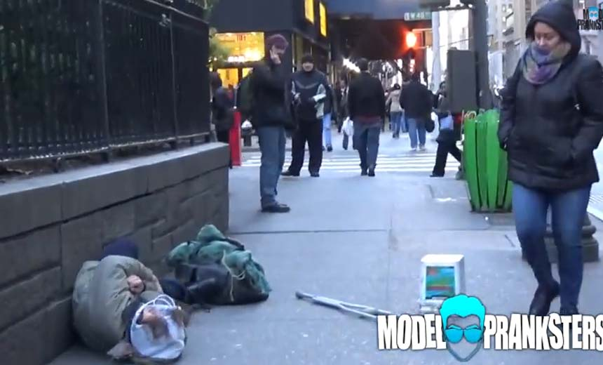 Watch How People Treat a Homeless Man Who Fell In the Street. Is Basic Human Kindness a Thing Of the Past?