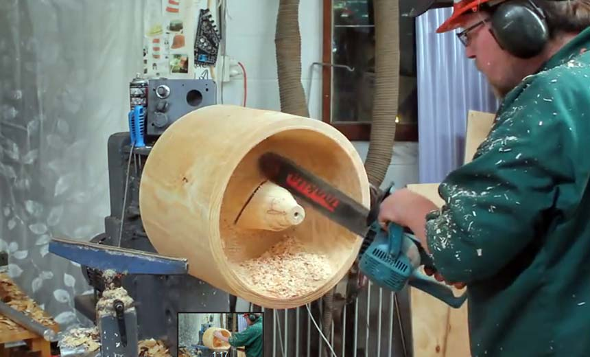 Can You Guess What This Man Can Do With A Log Of Wood? You've Got To See It To Believe It!