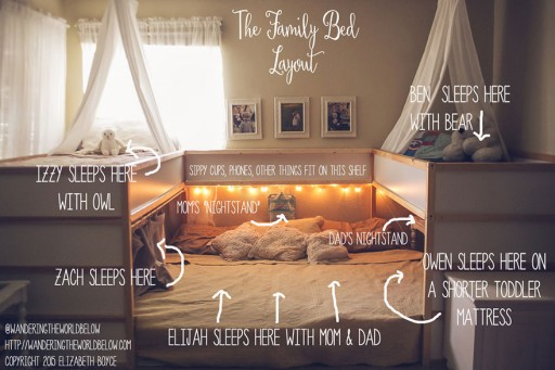 Creative Mom Redesigns Ikea Bed–for Family of 7!