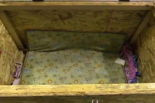 3-year-old Indiana girl found locked inside wooden box